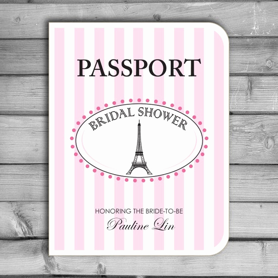 Passport to Paris Invitation Inspirational Items Similar to Paris Passport Parisian Eiffel tower