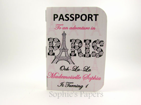 Passport to Paris Invitation Lovely Passport to Paris Invitation & Boarding Pass Save the