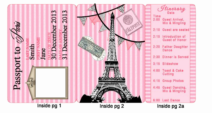 Passport to Paris Invitation New 17 Best Images About Paris Party On Pinterest