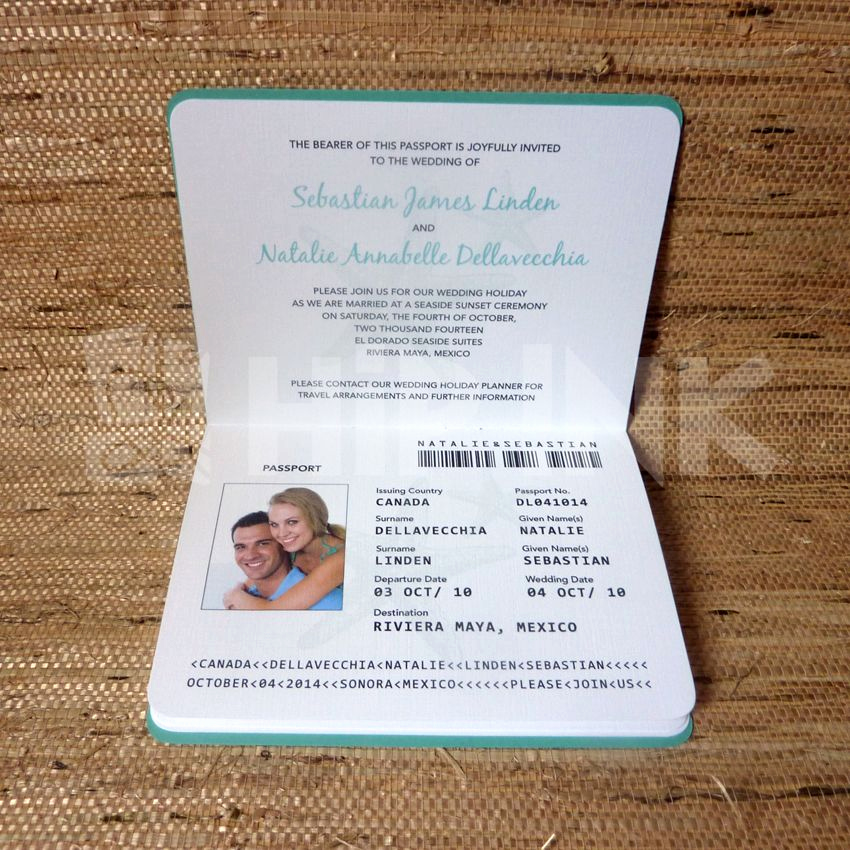 Passport Wedding Invitation Template Beautiful Wedding Invitation Passport Designs