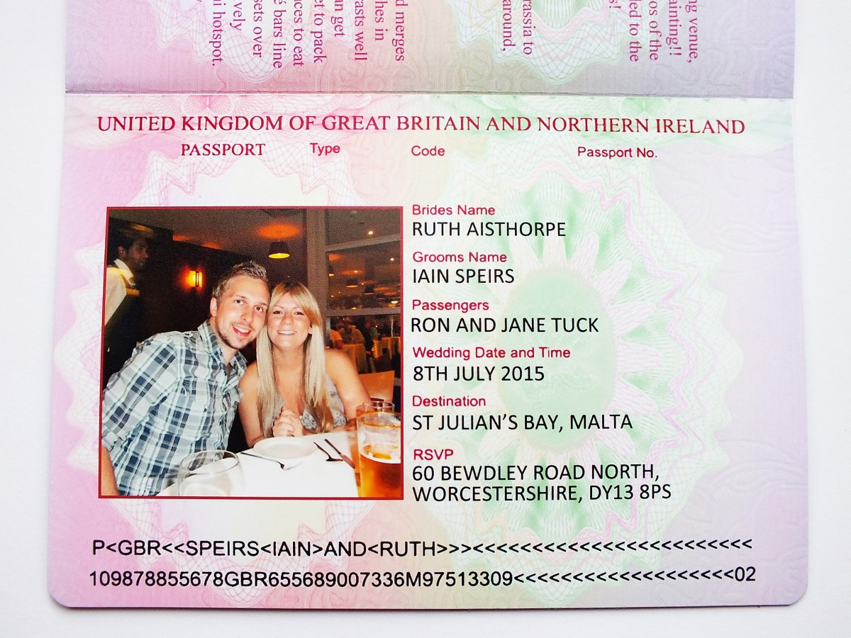 Passport Wedding Invitation Template Best Of Uk Passport Wedding Invitations