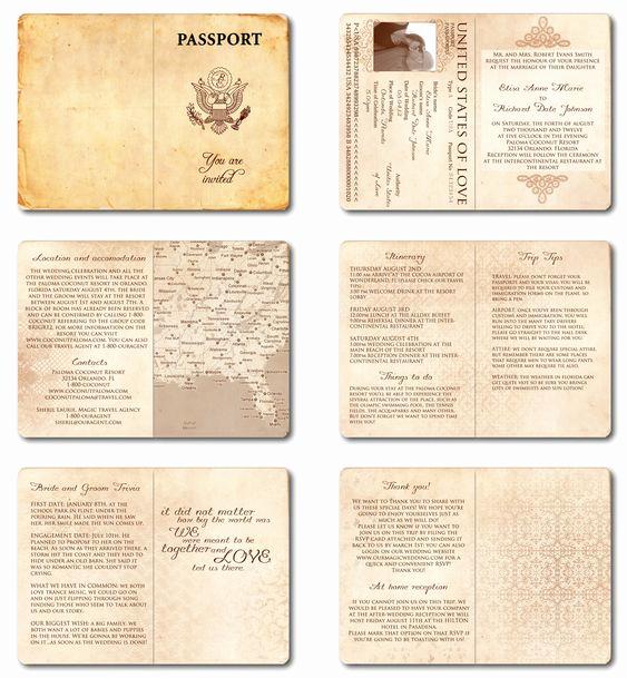 Passport Wedding Invitation Template Best Of Wedding Invitation Passport Printable Template Vintage