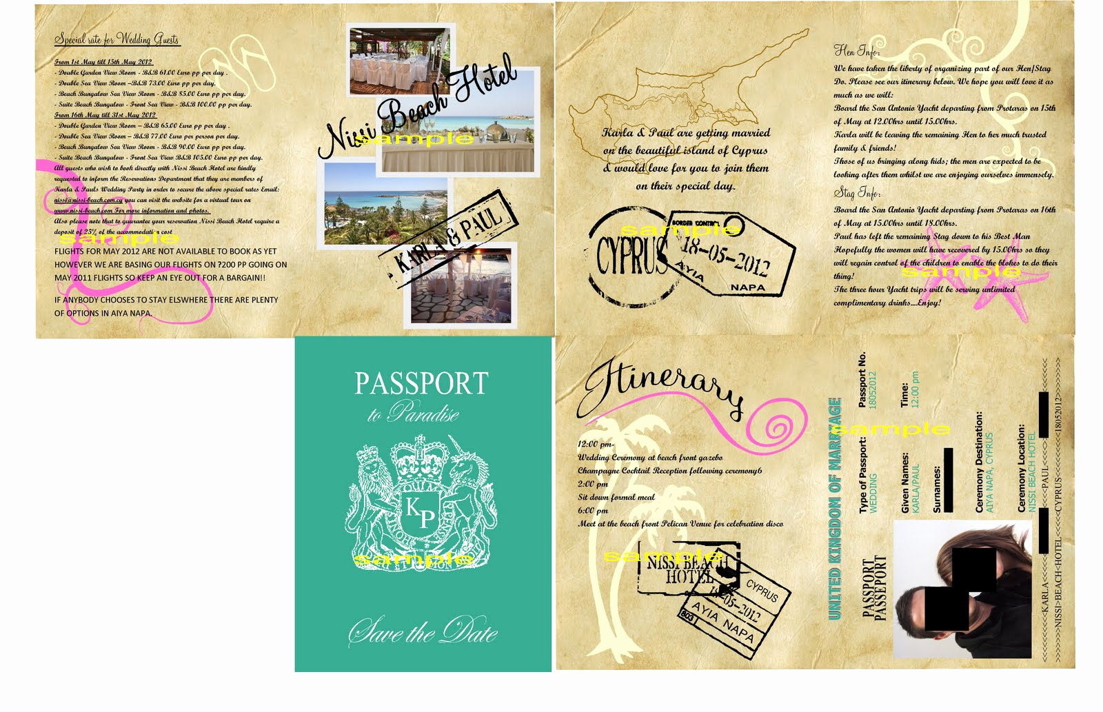 Passport Wedding Invitation Template Elegant Passport Birthday Invitation Templates
