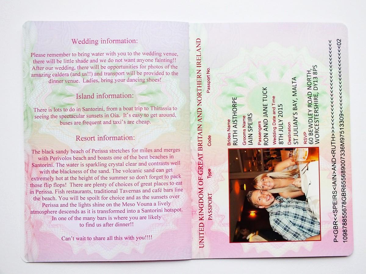 Passport Wedding Invitation Template Elegant Uk Passport Wedding Invitations