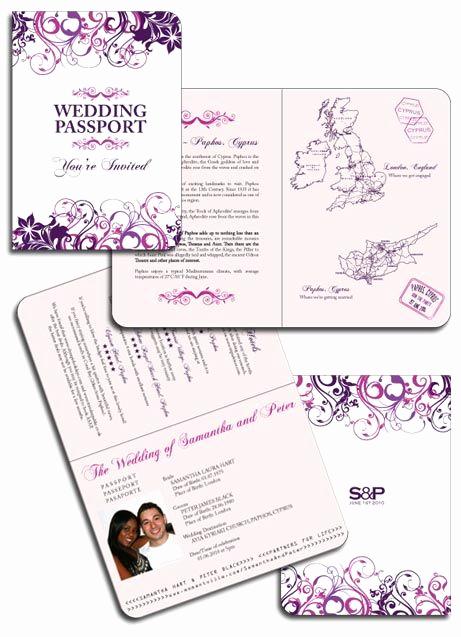 Passport Wedding Invitation Template Lovely Floral Passport Invitations