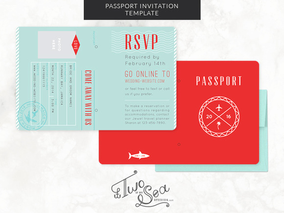 Passport Wedding Invitation Template Lovely Passport Wedding Invitation Template Invitation