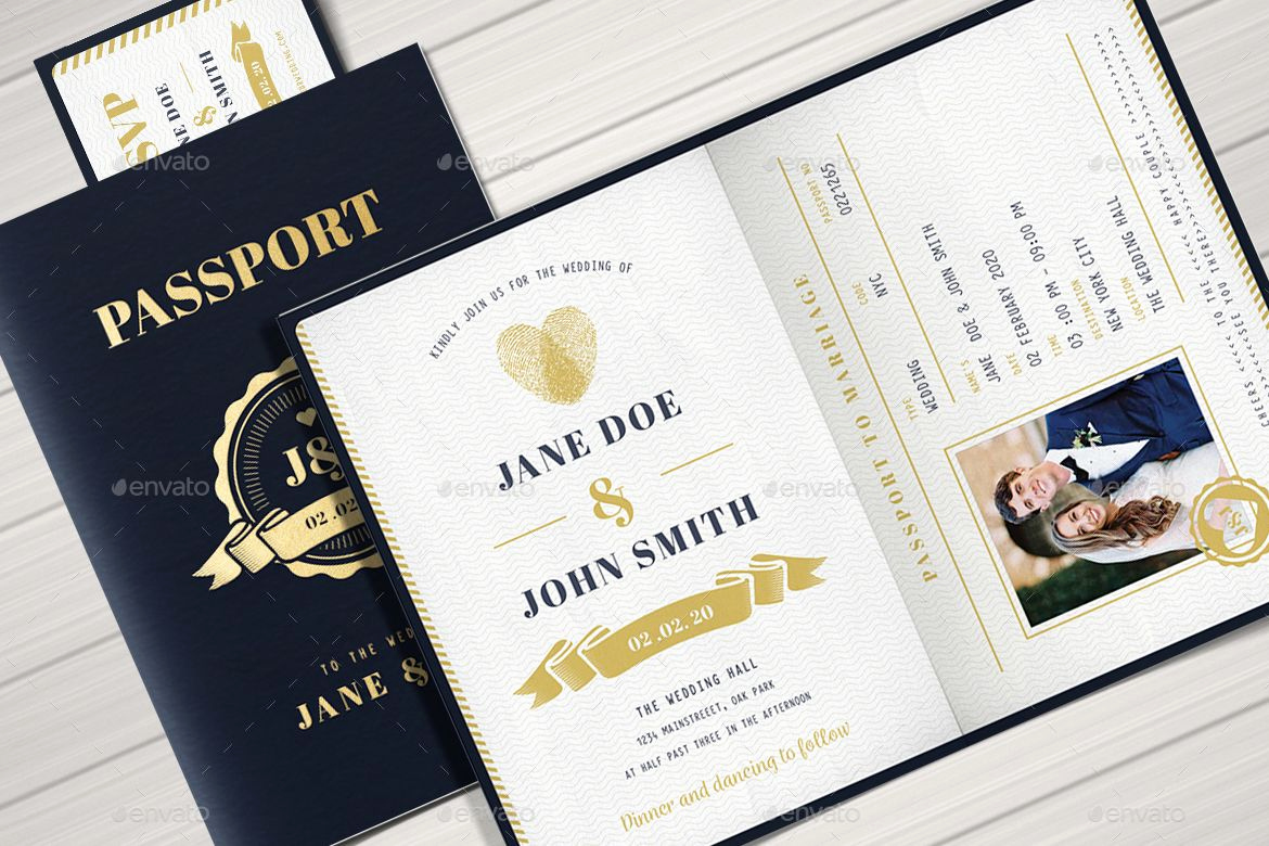 Passport Wedding Invitation Template Luxury Passport Wedding Invitation by Vynetta02