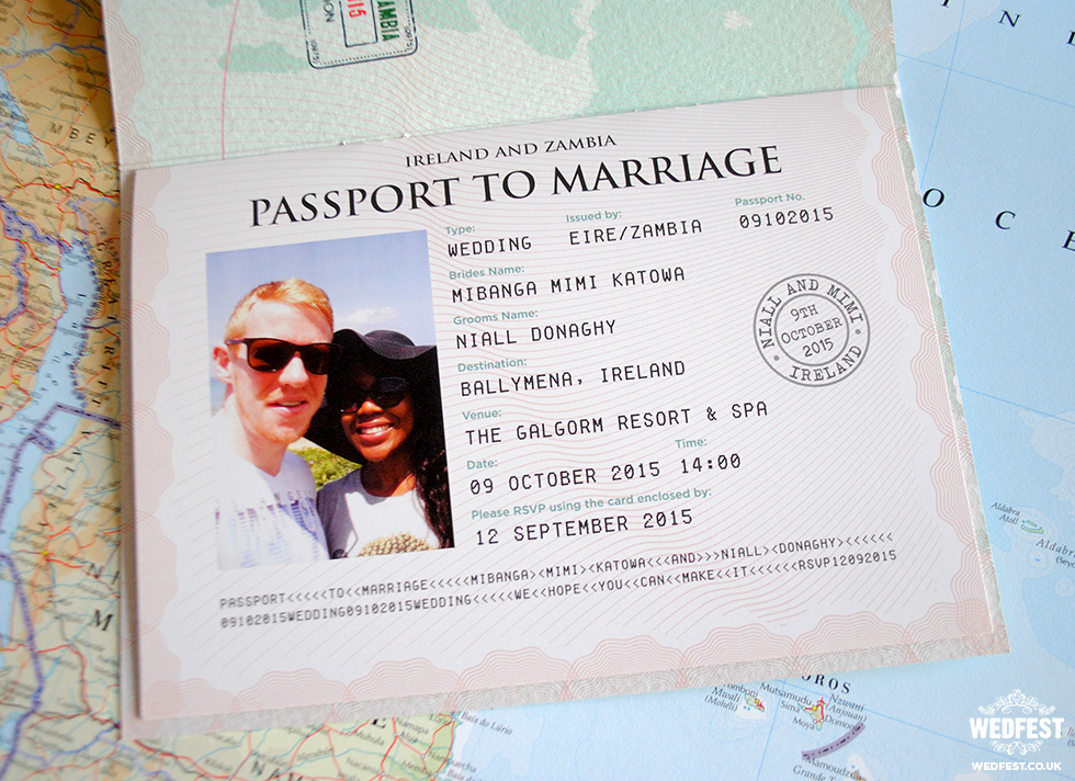 Passport Wedding Invitation Template Luxury Passport Wedding Invitations