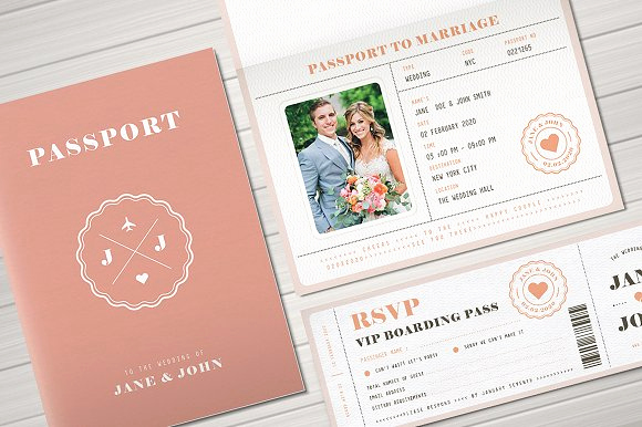 Passport Wedding Invitation Template Luxury This Week S Fresh Design Products Vol 93 Creative