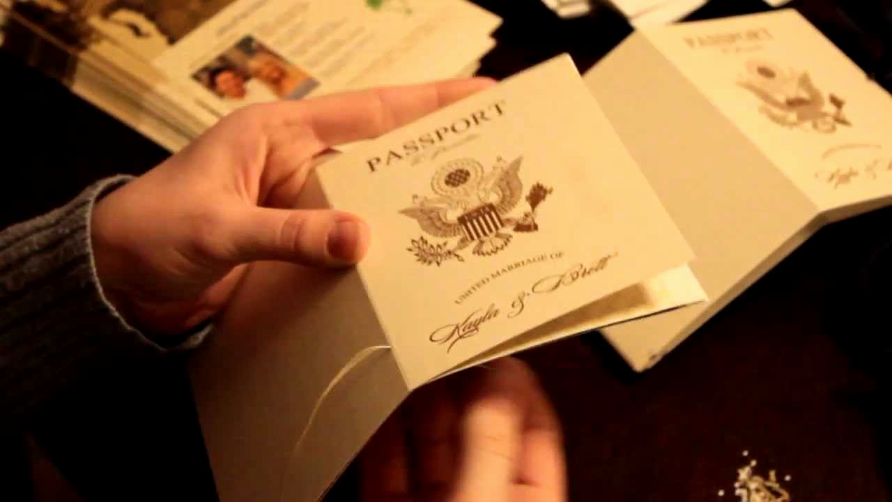 Passport Wedding Invitation Template New Vanessa S Destination Wedding Invitations How to