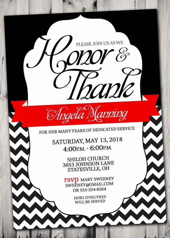 Pastor Anniversary Invitation Letter Best Of Pastor Appreciation Invitation Red and Black or Pick Any Color
