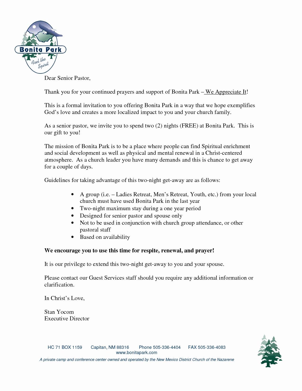 Pastor Anniversary Invitation Letter Elegant 7 Best S Of Pastors Appreciation Letters Invitations