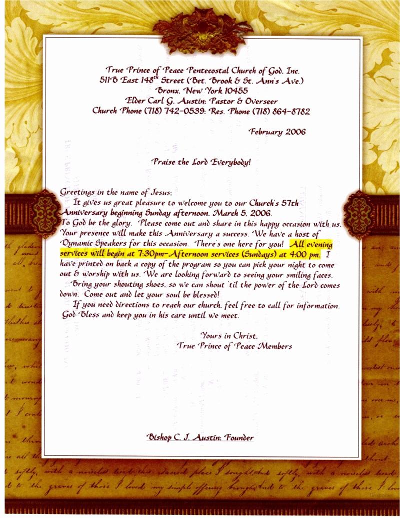 Pastor Anniversary Invitation Letter Elegant Founder Pastor Xavier Ferguson
