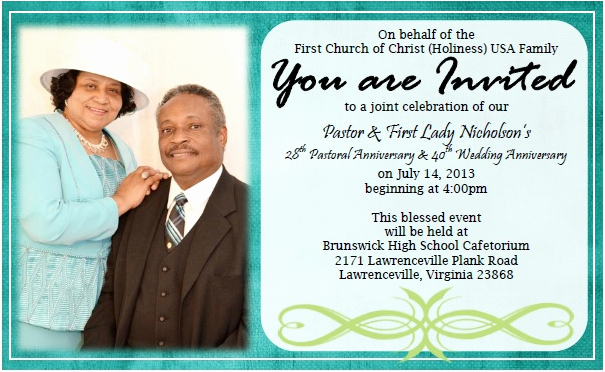 Pastor Anniversary Invitation Letter Fresh Home