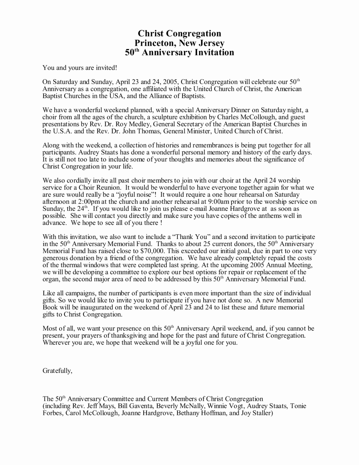 Pastor Anniversary Invitation Letter Inspirational Free Sample Invitation Letter for Pastor Anniversary
