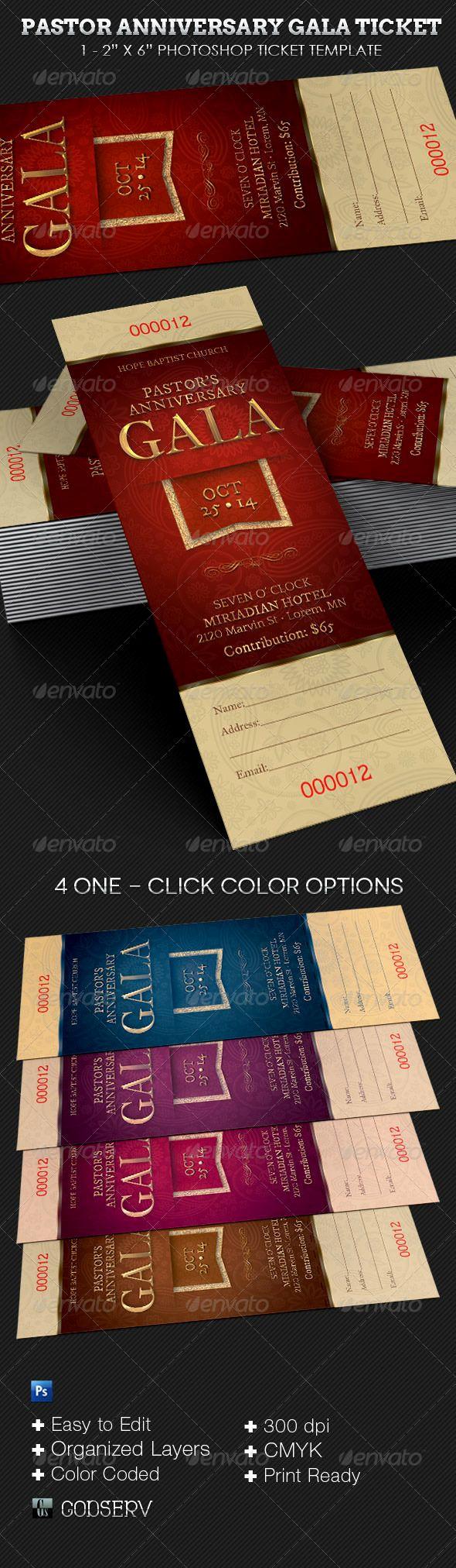 Pastor Anniversary Invitation Letter Inspirational Pastor Anniversary Gala Ticket Template Pastor