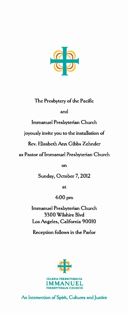 Pastor Installation Service Invitation Beautiful Transition News