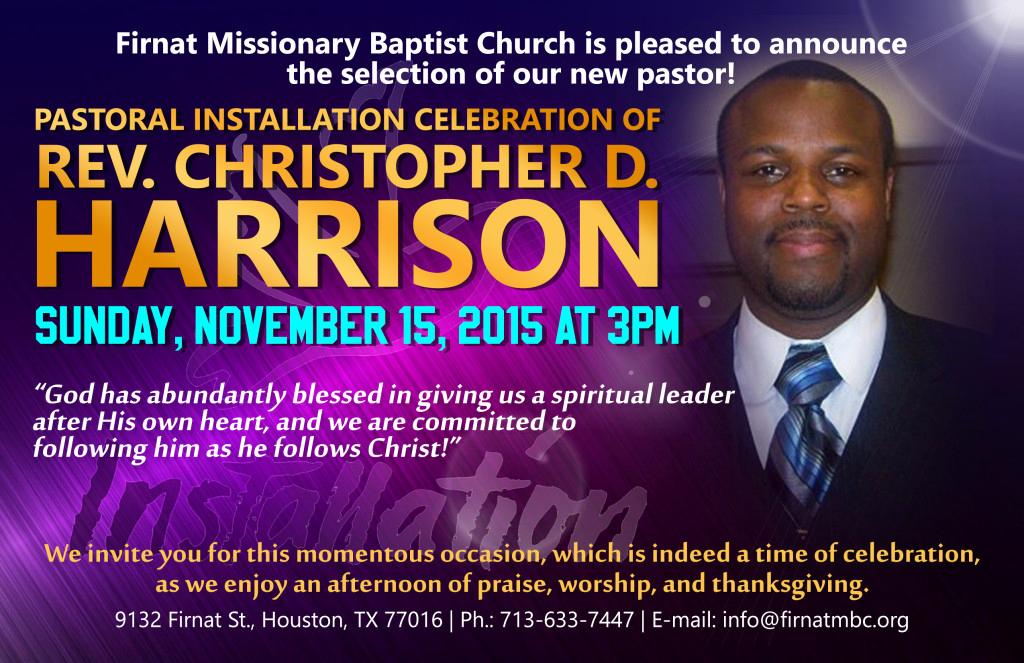 Pastor Installation Service Invitation Best Of Pastor C D Harrison Installation Service