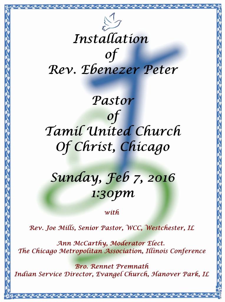 Pastor Installation Service Invitation Elegant Pastor Installation Service