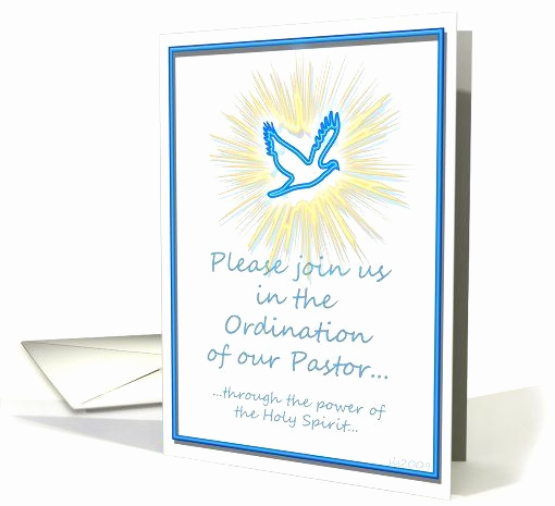 Pastor Installation Service Invitation Elegant Pastor ordination Invitation Custom Name Card