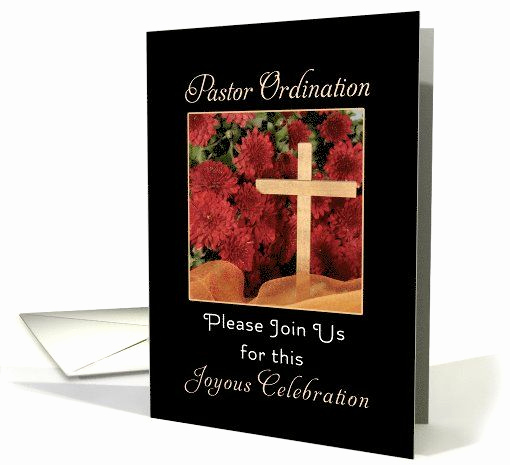 Pastor Installation Service Invitation Fresh for Pastor ordination Party Invitation Greeting Card