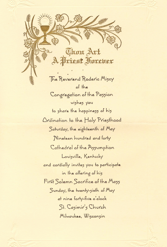 Pastor Installation Service Invitation Unique Priest ordination Catholic Quotes Quotesgram