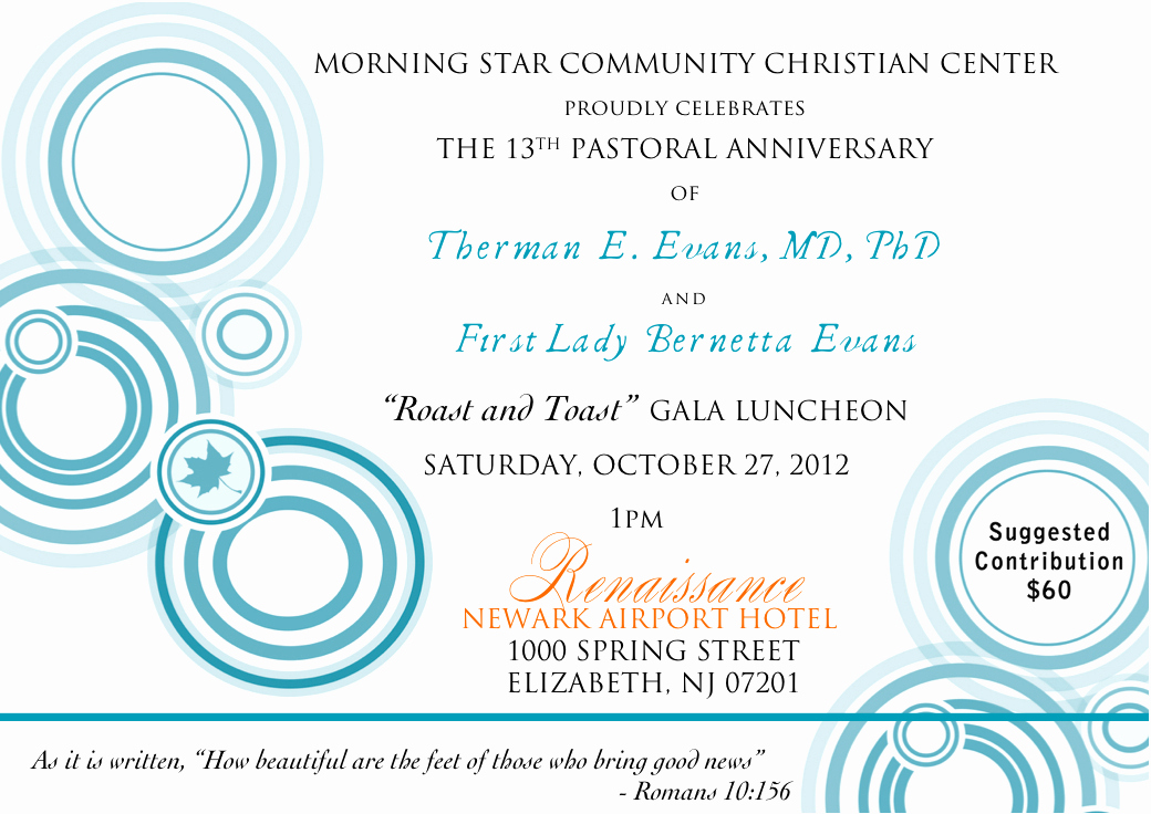 Pastoral Anniversary Invitation Letter Best Of the 13th Pastoral Anniversary Celebration — Dr therman E