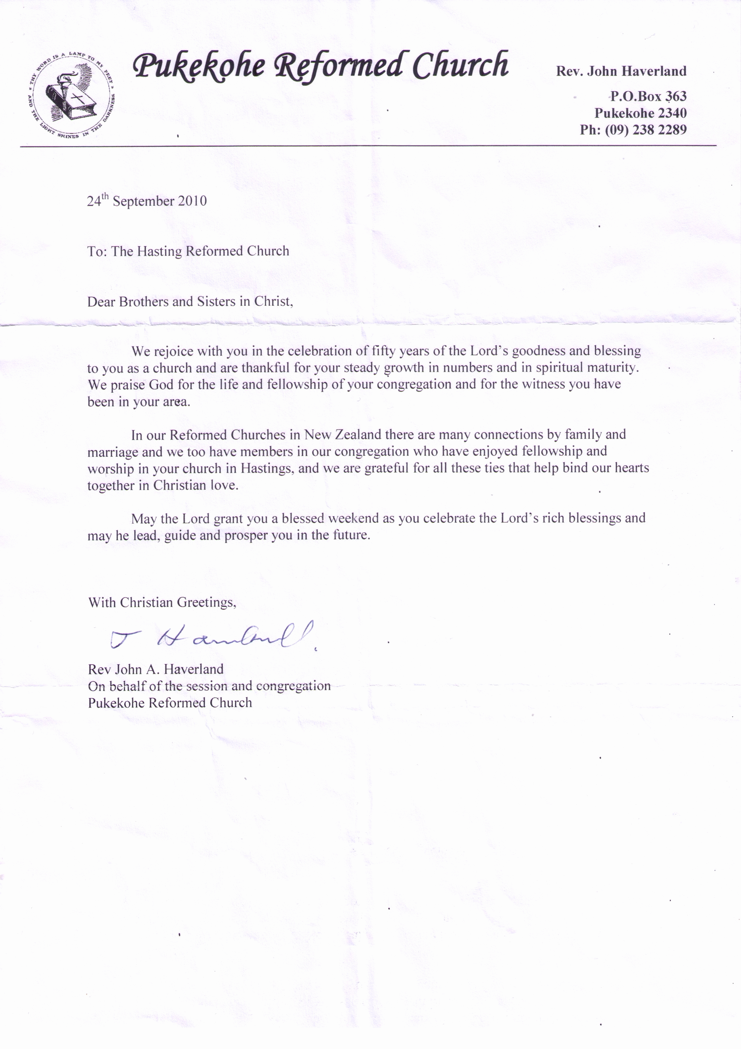 Pastoral Anniversary Invitation Letter Inspirational Church Anniversary Letter From the Pastor