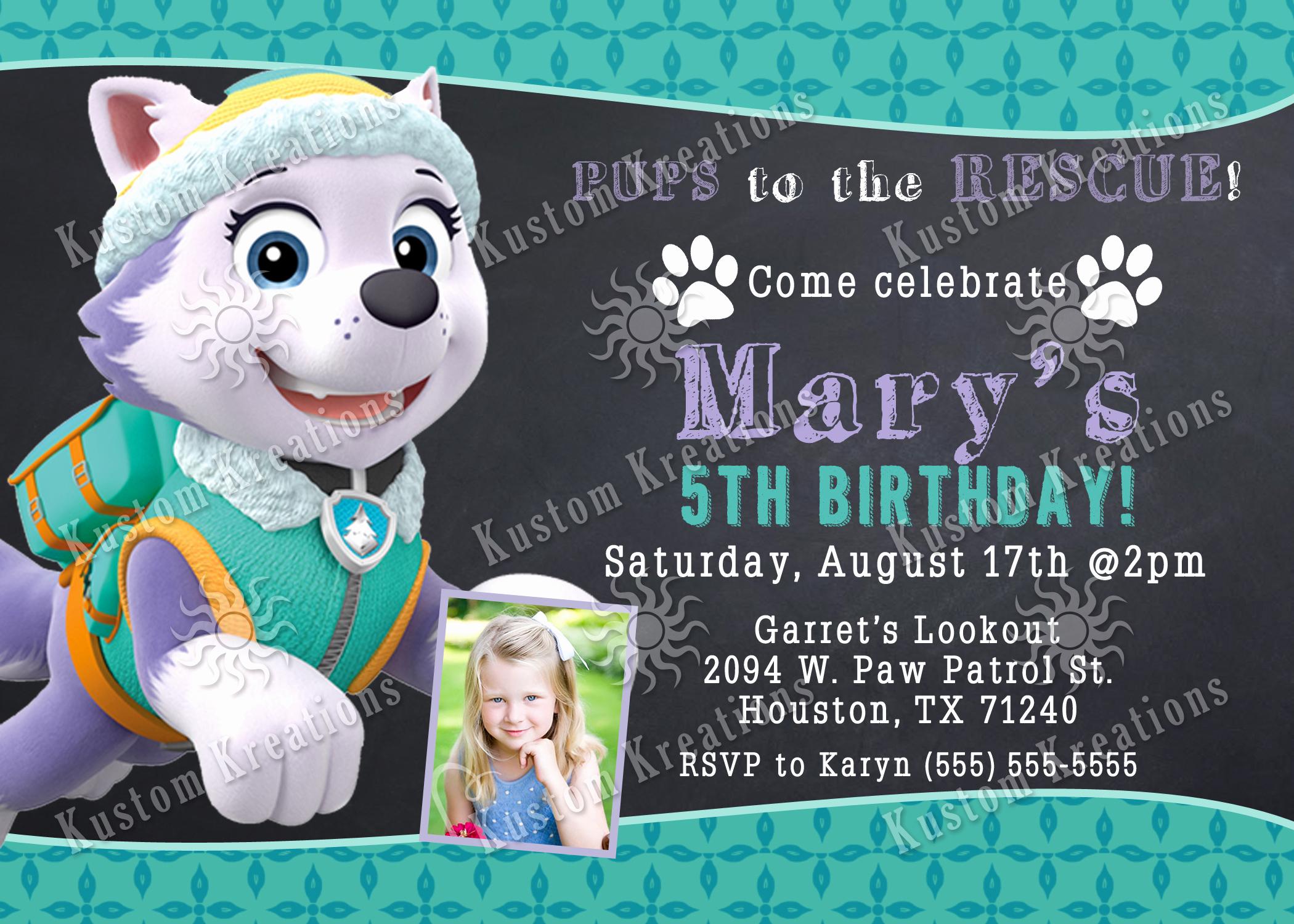 Paw Patrol Birthday Invitation New Paw Patrol Birthday Invitations