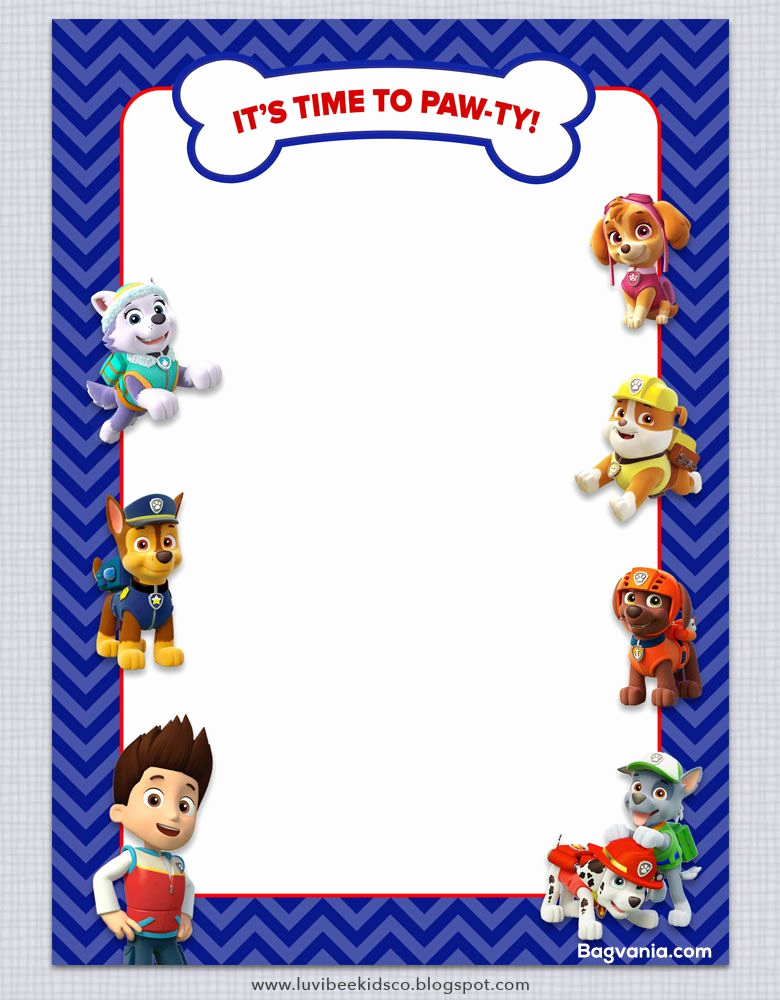 Paw Patrol Birthday Invitation Template Awesome Download Free Paw Patrol Birthday Invitations