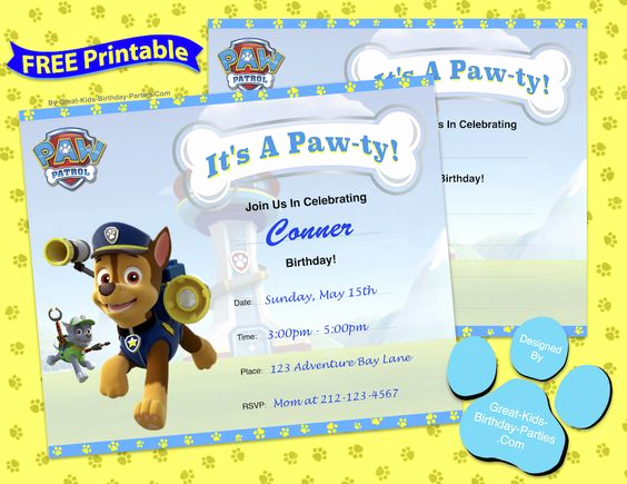 Paw Patrol Birthday Invitation Template Best Of Free Paw Patrol Birthday Invitation Template More Free
