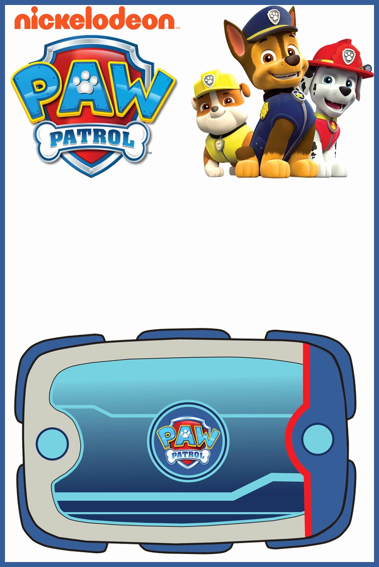 Paw Patrol Birthday Invitation Template Best Of Make Printable Paw Patrol Invitations Using Free Templates