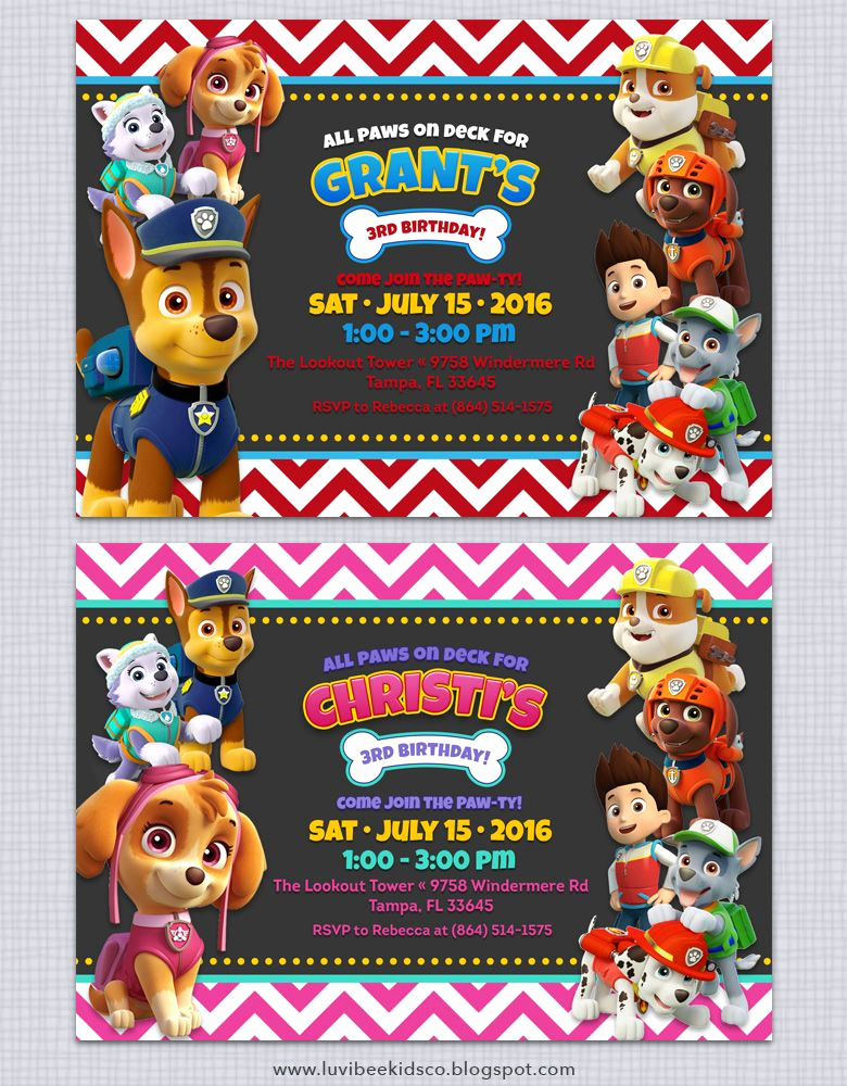 Paw Patrol Birthday Invitation Template Fresh Free Paw Patrol Invitation Printable Free Paw Patrol