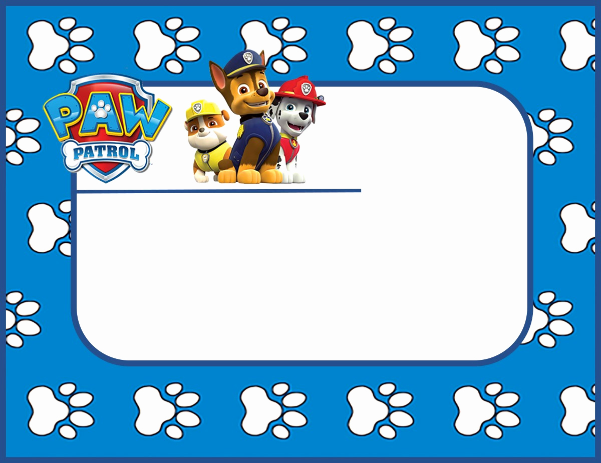 Paw Patrol Birthday Invitation Template Fresh Make Printable Paw Patrol Invitations Using Free Templates