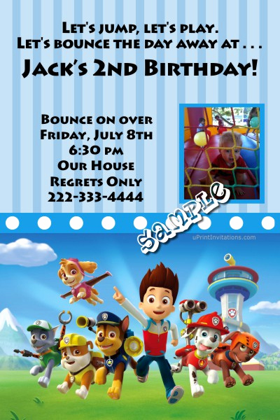 Paw Patrol Birthday Invitation Template Inspirational Paw Patrol Birthday Invitations