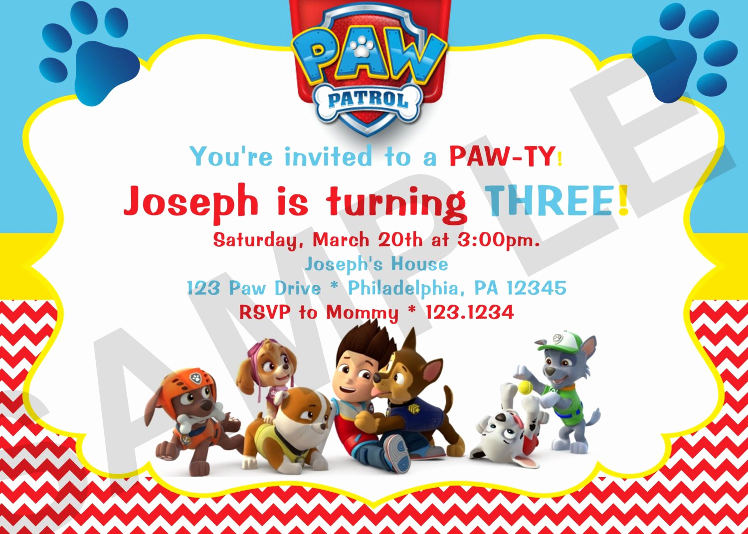 Paw Patrol Birthday Invitation Template New Paw Patrol Birthday Invitations Paw Patrol Birthday