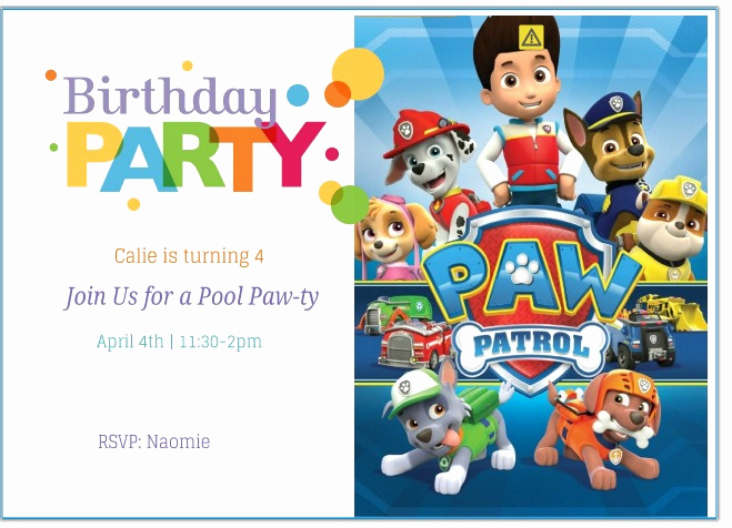 Paw Patrol Birthday Invitation Template Unique Free Printable Paw Patrol Birthday Invitation Ideas