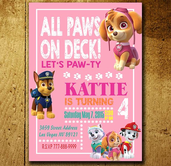 Paw Patrol Invitation Ideas Awesome Invitations Paw Patrol Invitation Paw Patrol Birthday