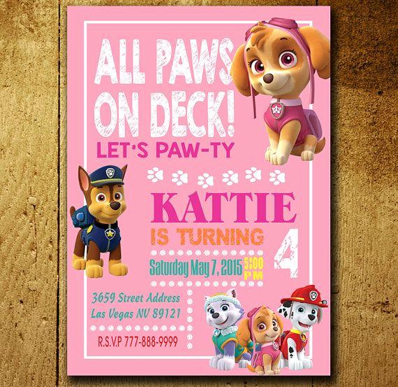 Paw Patrol Invitation Ideas Awesome Invitations Paw Patrol Invitation Paw Patrol Birthday