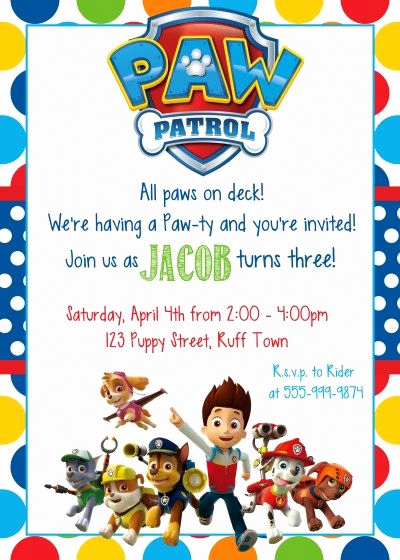 Paw Patrol Invitation Ideas Beautiful Best 25 Paw Patrol Birthday Invitations Ideas On