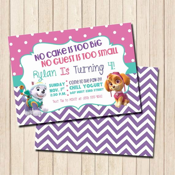 Paw Patrol Invitation Ideas Lovely Best 25 Paw Patrol Birthday Invitations Ideas On