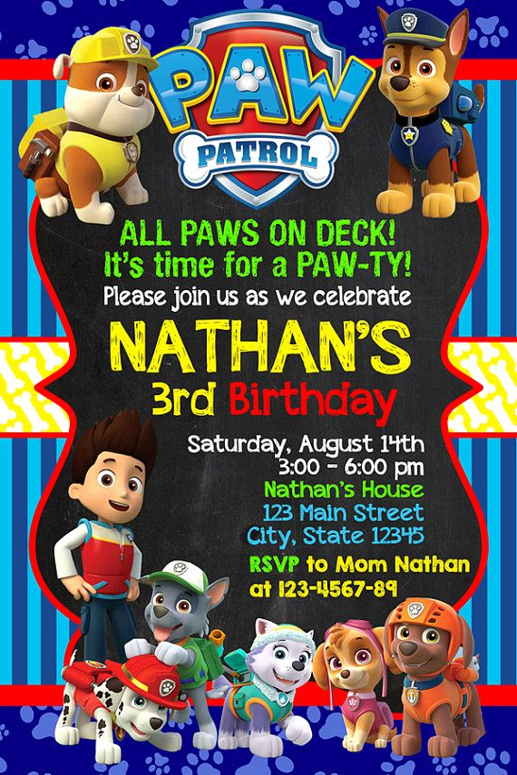 Paw Patrol Invitation Ideas Lovely Best 25 Paw Patrol Invitations Ideas On Pinterest