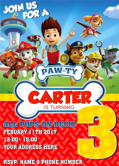 Paw Patrol Invitation Ideas Lovely Paw Patrol Birthday Invitation