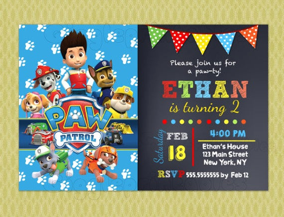 Paw Patrol Invitation Ideas Lovely Paw Patrol Birthday Invitations Paw Patrol Invitations Diy