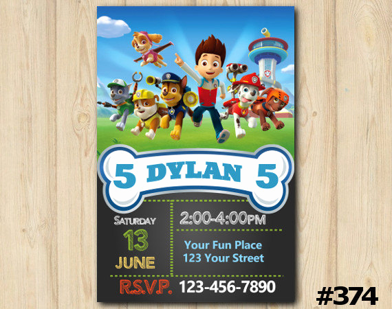 Paw Patrol Invitation Ideas Lovely Paw Patrol Invitation Paw Patrol Birthday Invitation Paw