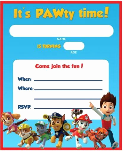 Paw Patrol Invitation Ideas Lovely Paw Patrol Party Invitations with Different Invitation