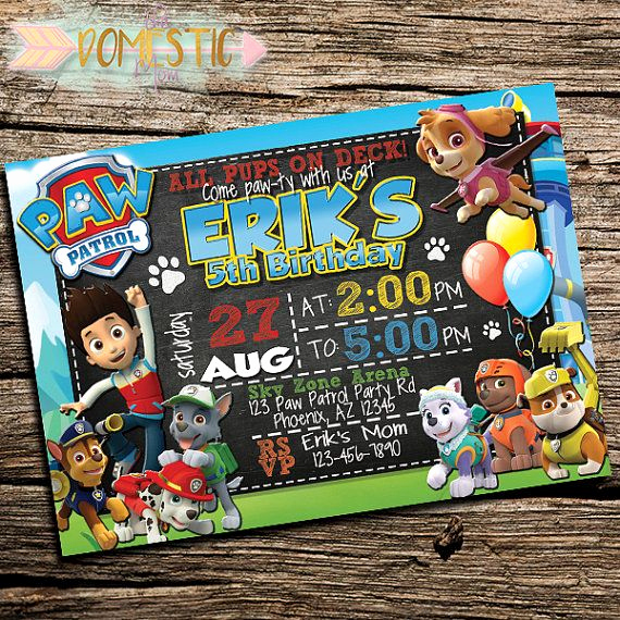 Paw Patrol Invitation Ideas Luxury 17 Best Ideas About Paw Patrol Invitations On Pinterest