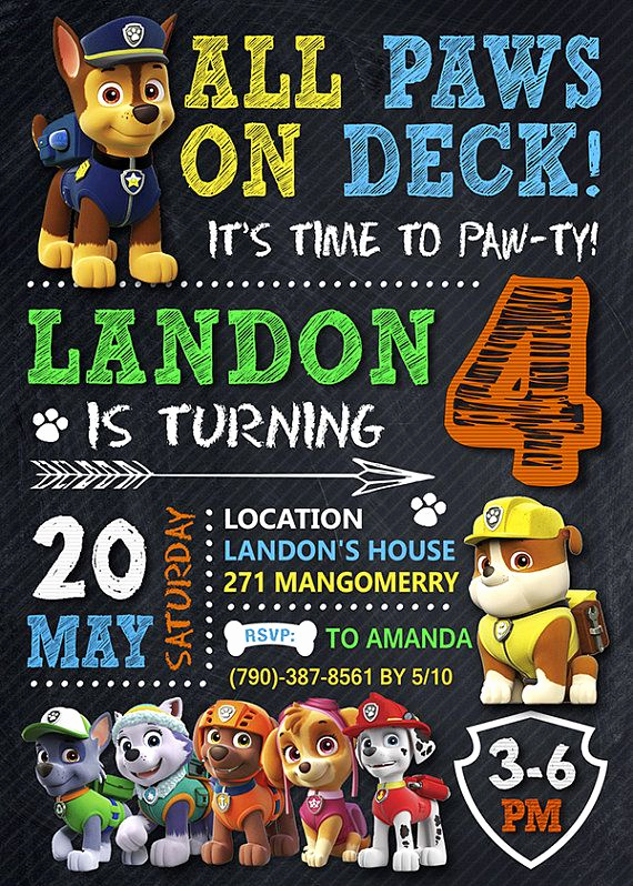Paw Patrol Invitation Ideas Luxury 25 Best Ideas About Paw Patrol Birthday On Pinterest