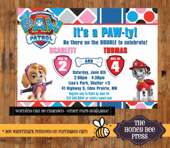 Paw Patrol Invitation Ideas New Best 25 Paw Patrol Birthday Invitations Ideas On