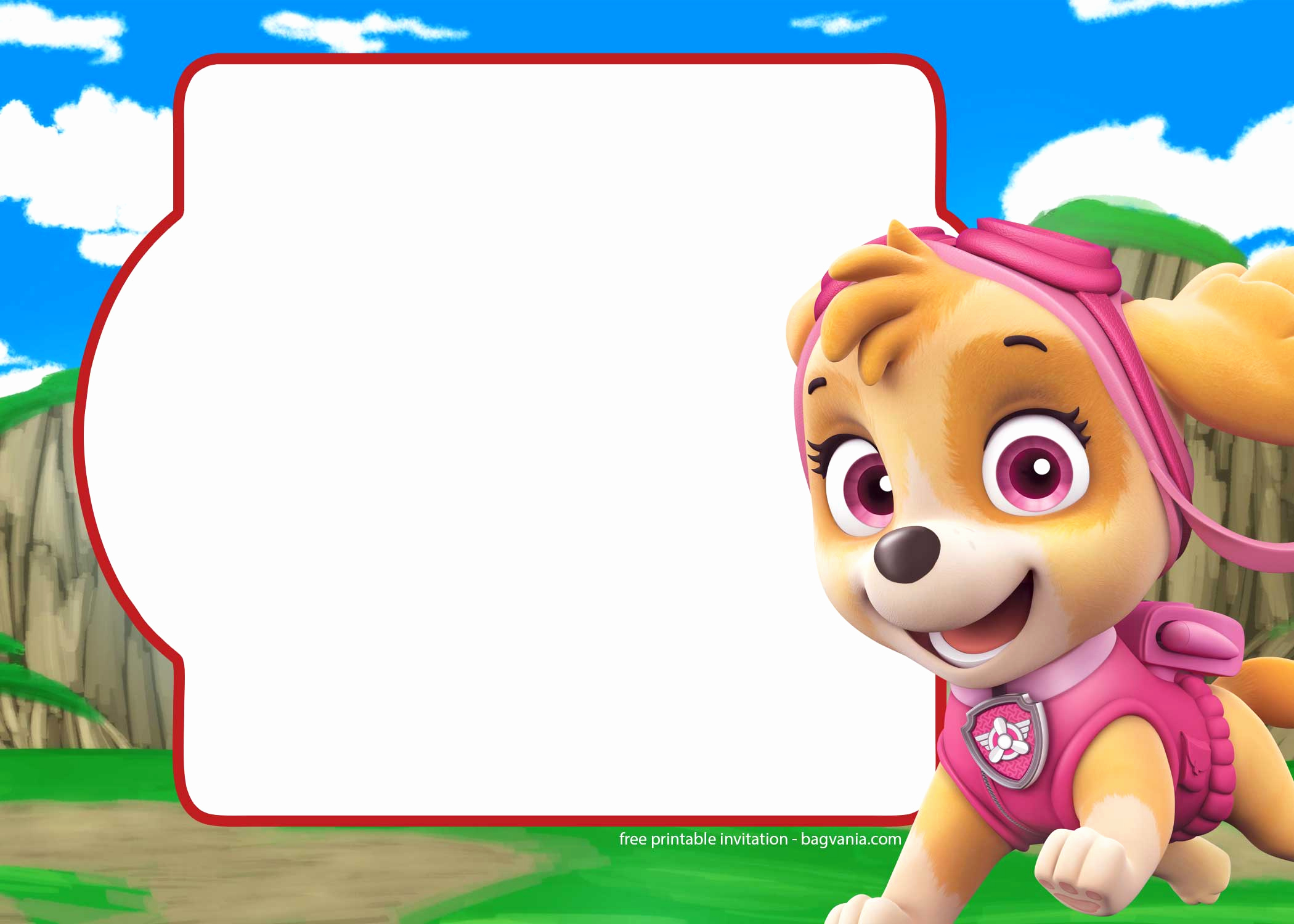 Paw Patrol Invitation Template Awesome Free Paw Patrol Invitation Template – Plete Collection